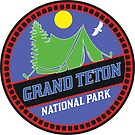 CAMPING GRAND TETON NATIONAL PARK TENT CAMP WYOMING MOUNTAIN MOUNTAINS SUN by MyHandmadeSigns