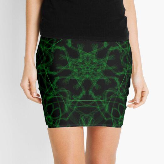 green sun in the rays Mini Skirt