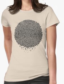Black Sphere Womens Fitted T-Shirt
