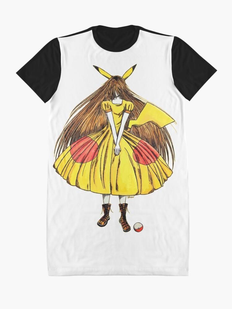 Alternate view of Lady Pikachu Graphic T-Shirt Dress