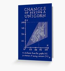 Chances of Seeing a Unicorn Greeting Card
