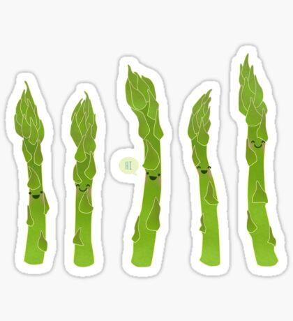 Asparagus say hi! Sticker