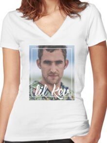 Lil Kev Women's Fitted V-Neck T-Shirt