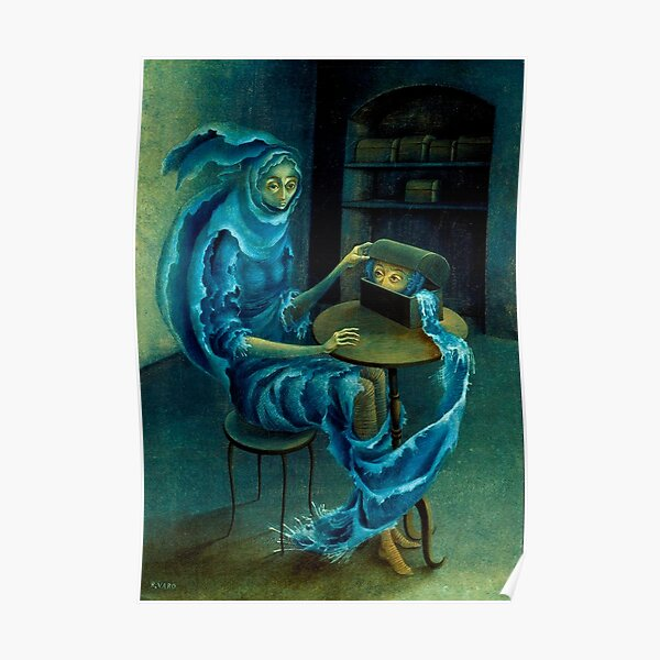 Meeting, by Remedios Varo Poster