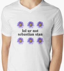 lol ur not Mens V-Neck T-Shirt