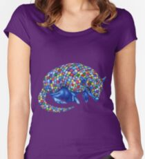 Mosaic Armadillo Fitted Scoop T-Shirt