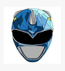 Blue Ranger Stained Glass Photographic Print