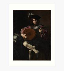 The Lute Player , Valentin de Boulogne Art Print