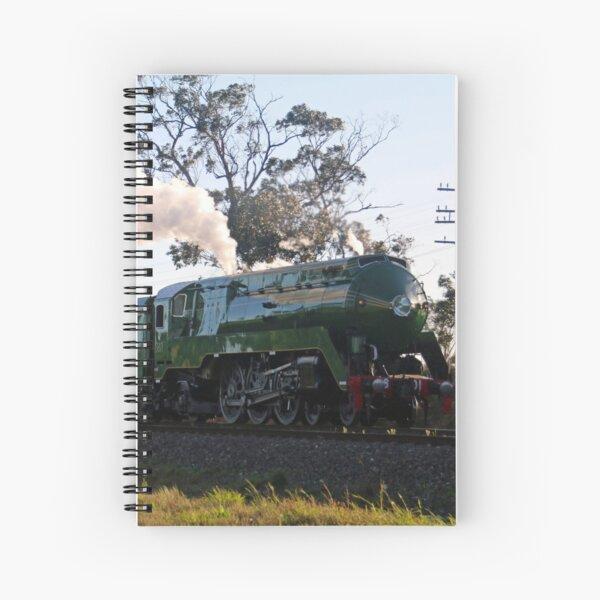 3801 Australian Steam Train being tested along Piction to Goulburn line, Braemar NSW Spiral Notebook