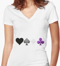 ACES Women's Fitted V-Neck T-Shirt