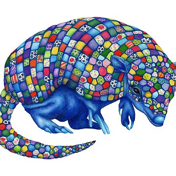 Mosaic Armadillo by Flyttamouse