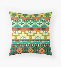Green and Yellow Aztec Merchandise Throw Pillow