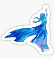 Melted Crayon Snow Queen Sticker