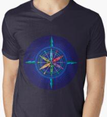 f7f77cba01 Kayak Compass Rose on blue V-Neck T-Shirt