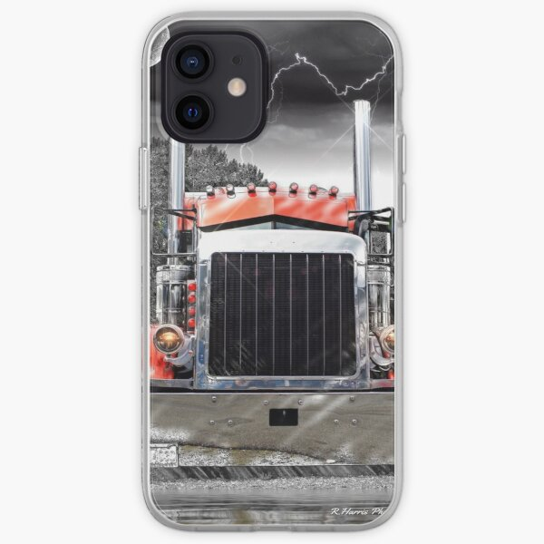 Peterbilt Front End Abstract iPhone Soft Case