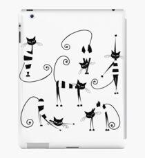 Amusing cats design set iPad Case/Skin