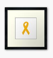 Orange Ribbon Framed Print