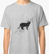 Black cat cartoon art Classic T-Shirt