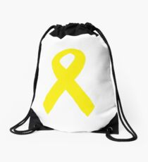 Yellow Ribbon Drawstring Bag