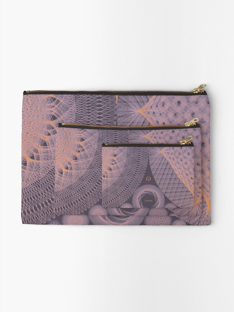 Alternate view of Contemporary Mandalas Track   Slow Down   Sunset Zipper Pouch