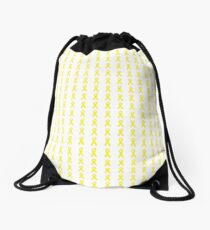 Yellow Ribbons Drawstring Bag