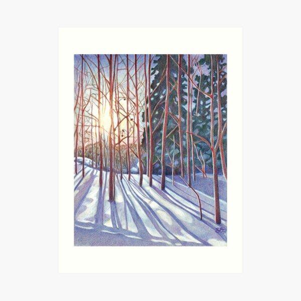 Hiver : lever de soleil Impression artistique