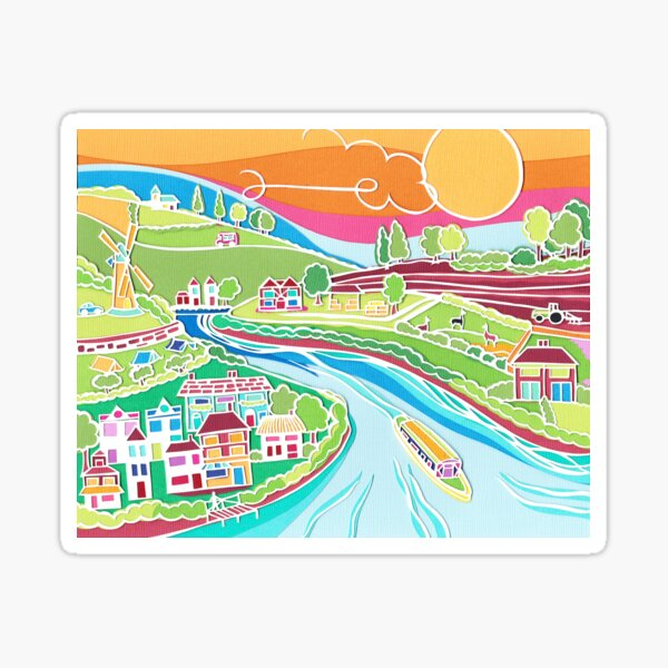 Summer in the country Sticker