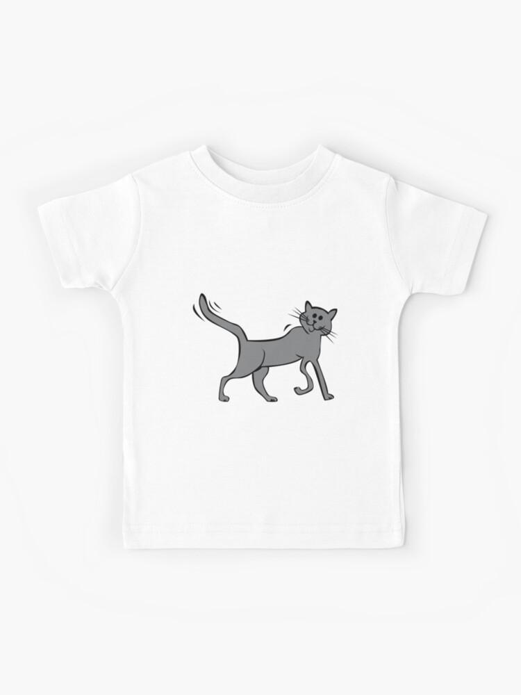 Vintage Kids Cartoon Cat t shirt Pink Trim age 1 2 3 4 Deadstock Little Bird