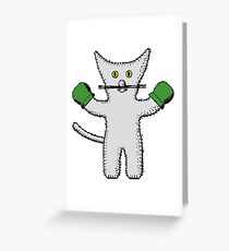 Kitten with mittens clip art Greeting Card
