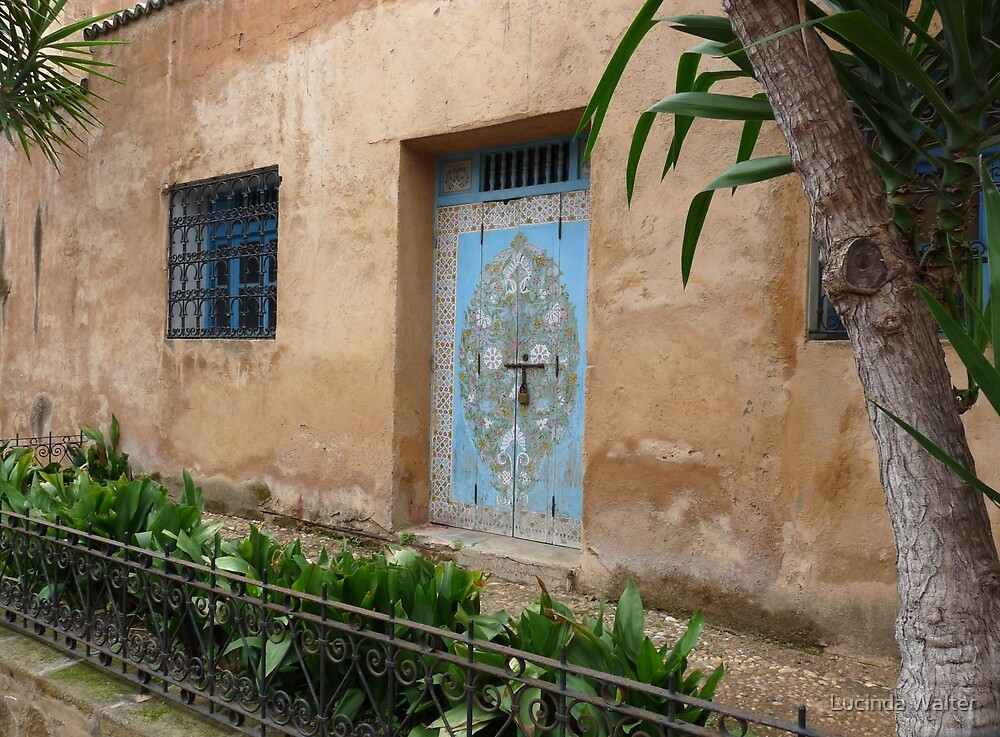 Door and Window of Kasbah des Oudaias by Lucinda Walter