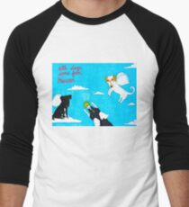 All Dogs Come From Heaven Men's Baseball ¾ T-Shirt