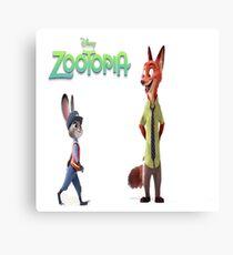 Zootopia Nick & Judy Canvas Print