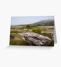 Burren Rock on Galway Bay Greeting Card