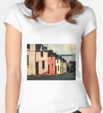 Colorful Houses Women's Fitted Scoop T-Shirt