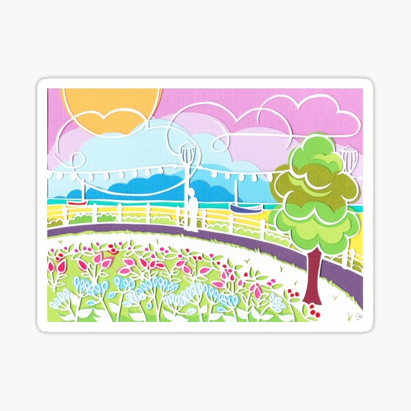Beachful thinking Sticker