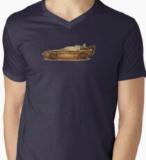 Lost in the Wild Wild West! (Golden Delorean Doubleexposure Art) Mens V-Neck T-Shirt