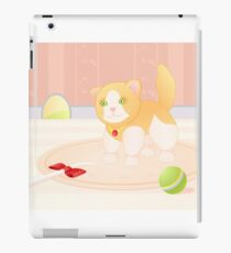 Cat playing in home iPad Case/Skin