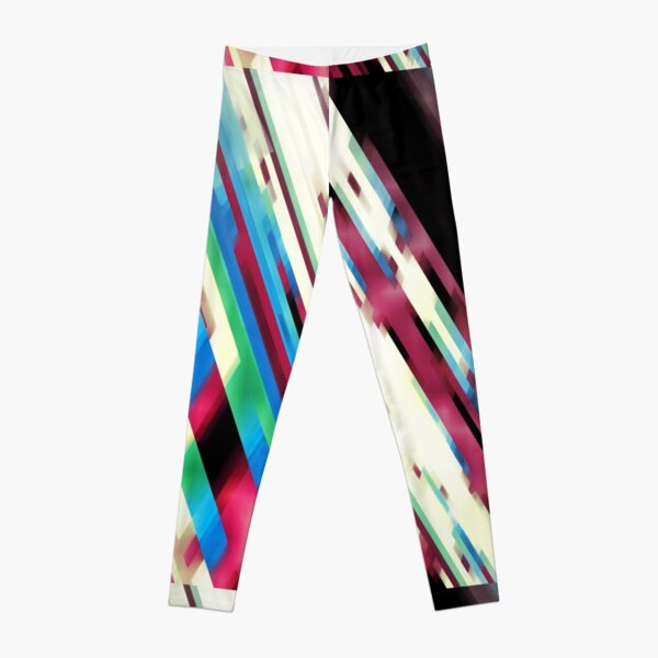 Paint blotches and lines abstract Leggings