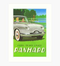 Fifties classic car Panhard from France  Art Print
