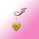 I Golden Heart Locket by Chere Lei