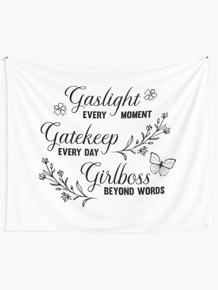 Alternate view of Gaslight Gatekeep Girlboss Meme Tapestry