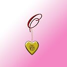 O Golden Heart Locket by Chere Lei