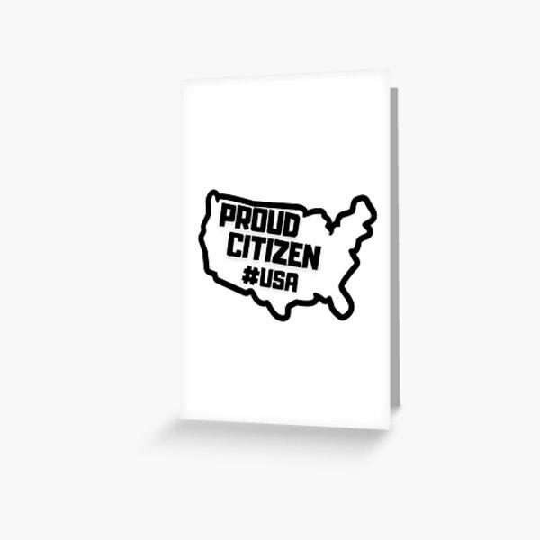 Orgulloso ciudadano de Estados Unidos Tarjetas de felicitación