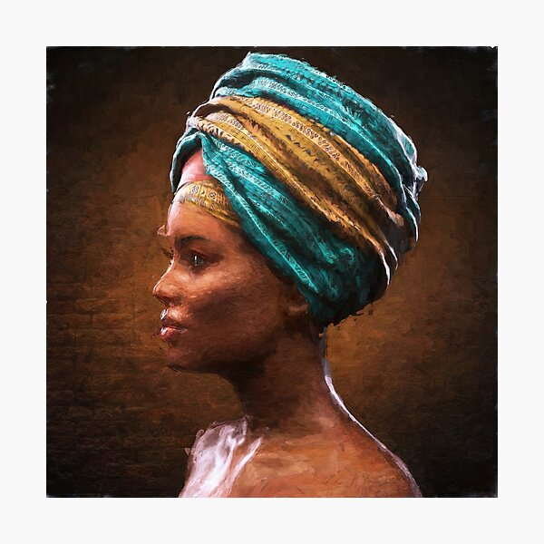 Painted African Girl Photographic Print