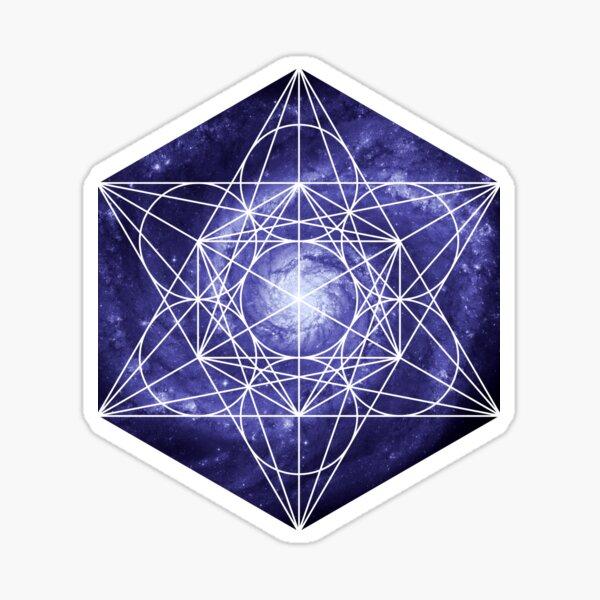 Pinwheel Blue Hue | Metatron Sacred Geometry Sticker Sticker