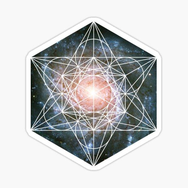 Pinwheel Galaxy | Metatron Sacred Geometry Sticker Sticker