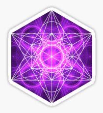 Purple Circles | Metatron Sacred Geometry Sticker Sticker