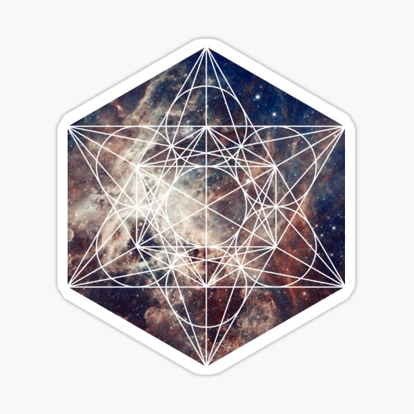 Star Clouds | Metatron Sacred Geometry Sticker Sticker