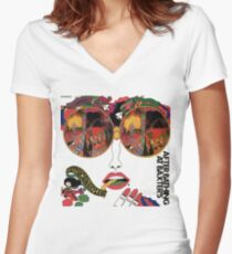 Psychedelic Art - Sixties - Jefferson Airplane Women's Fitted V-Neck T-Shirt