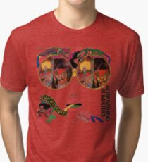 Psychedelic Art - Sixties - Jefferson Airplane Tri-blend T-Shirt